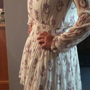 Free people drop waist long sleeve dress